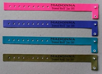 MADONNA * DROWNED WORLD TOUR CONCERT WRISTBANDS x 4 * HTF!!