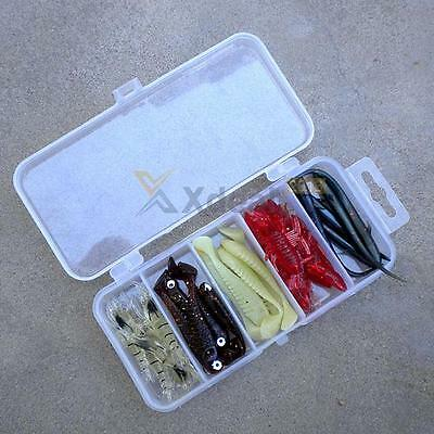 Waterproof Fishing Lure Tackle Hook Bait Storage Box Case 5 Compartments  NEW