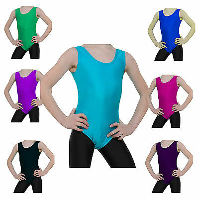 Gymnastics Leotard Sleeveless Lycra Dance Gym Leotards by Tappers and Pointers