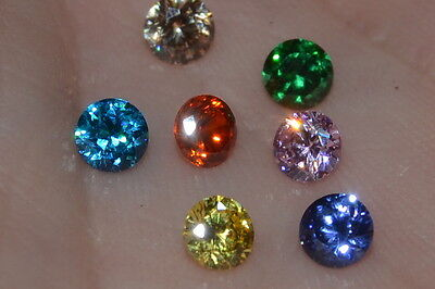 """Flawless"" 5mm Multiple Colored Brilliant Cut Simulated Diamonds"