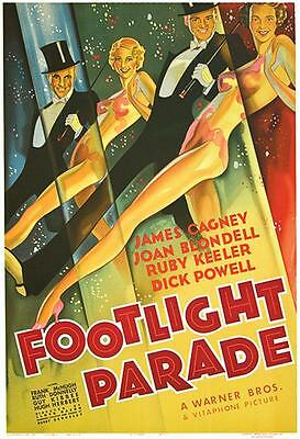 Footlight Parade Vintage Movie Poster Lithograph Hand Pulled S2 Art James Cagney