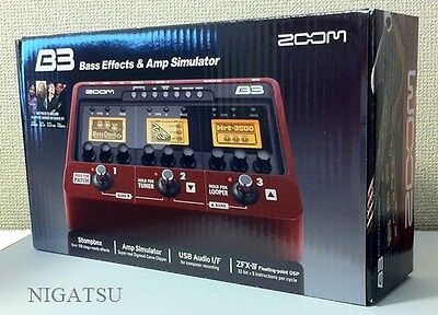 NEW Zoom B3 Bass Guitar Multi Effects and Amp Simulator Ped from JAPAN