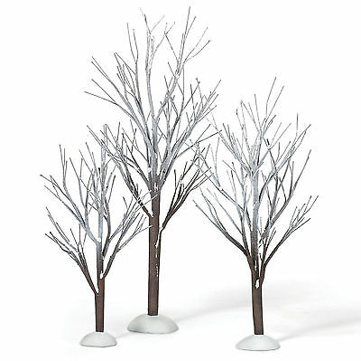 Dept 56 First Frost Trees Set of 3 NEW D56 800007