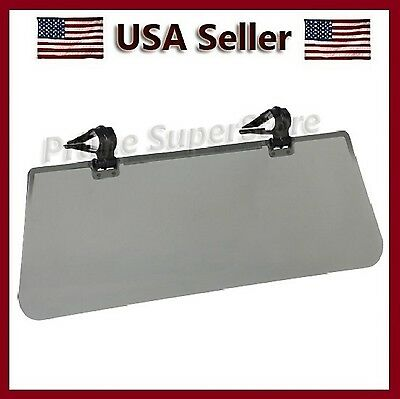 New Flip Car / Auto Sun Visor Clip On Extension Shield