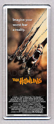 THE HOWLING movie poster LARGE 'WIDE' FRIDGE MAGNET - 81' HORROR CLASSIC!