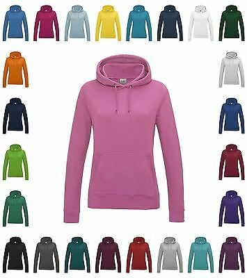 Womens Cut College Hoodie Pullover Hooded Sweatshirt Casual Fashion Ladies Hoody