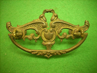 Fancy Victorian Brass Drawer Pull  - Early    (3219-13)