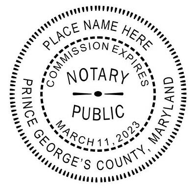 For MARYLAND NEW Round Self-Inking NOTARY SEAL RUBBER STAMP