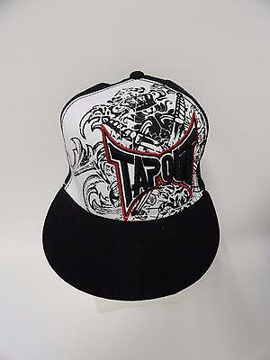 New With Tag Youth Baseball Cap Hat Tapout 100% Cotton One Size Black White Red