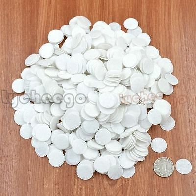 1000 Pcs White 20mm Felt Circle Round Appliques Pads For DIY Sewing Craft