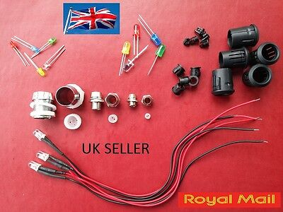 Led 3Mm 5Mm 10Mm Holders Chrome Bezel   Uk Seller Vat Invoice