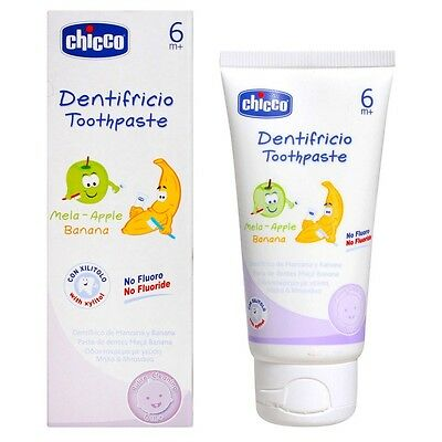 CHICCO Toothpaste Flavor with Apple and Banana 50ml 6m +