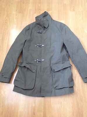 Great Oliver Sweeney Mens Khaki Waxed Style Jacket Uk Size S Worn