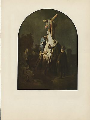 """1967 Vintage REMBRANDT /""""THE DESCENT FROM THE CROSS/"""" COLOR offset Lithograph"""
