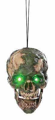 Undead Fred Hanging Animated Head Skull Halloween Prop Haunted House Decoration