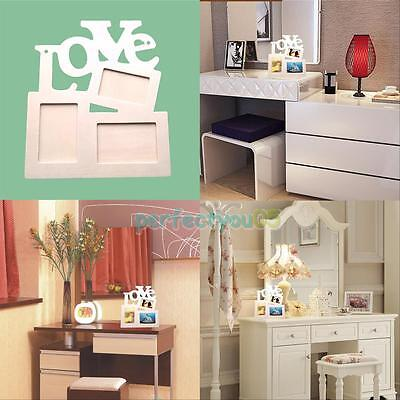 Durable Hollow Love Wooden Photo Picture Frame Rahmen Home Decor Art DIY