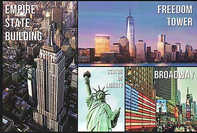 One World Trade Center Freedom Tower Empire State Building New York etc Postcard