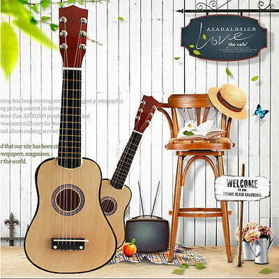 21 inch Beginners Practice Acoustic Guitar with Pick 6 String Kids Musical Gift