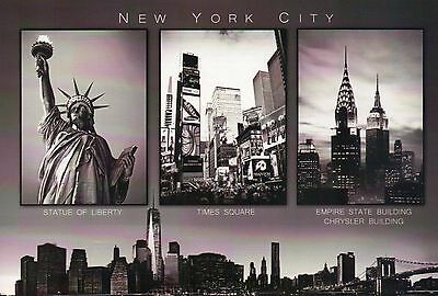 Statue of Liberty, Chrysler Building, Freedom Tower etc New York City - Postcard