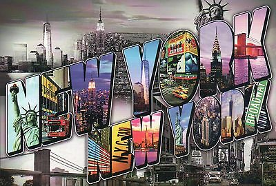 Statue of Liberty, Freedom Tower etc., New York City NY, Large Letter - Postcard
