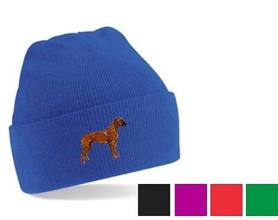 Rhodesian Ridgeback Beanie Hat  Embroidered by Dogmania