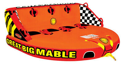 SportsStuff Great Big Mable 4 Rider Multi Person Inflatable Tow Tube 53-2218