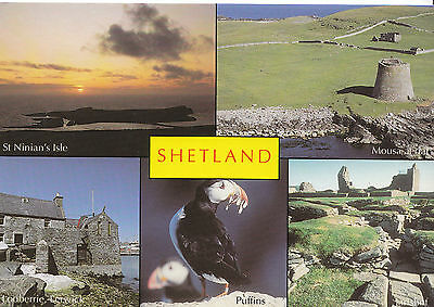 Scotland Postcard - Views of Shetland    AB1658