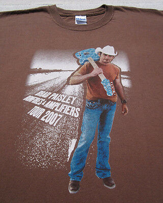 BRAD PAISLEY bonfires & amplifiers 2007 tour 2XL T-SHIRT xxl concert