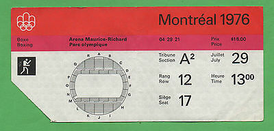 Orig.Ticket   Olympic Games MONTREAL 1976 // BOXING all 1/2 FINAL`S  !!  RARITY