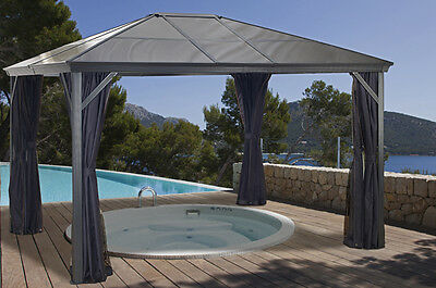 Sojag Verona Hard Top Gazebo 10x10 with Polycarbonate Roof and Mosquito Netting