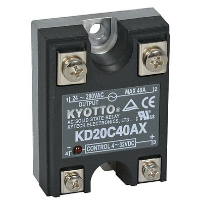 Kyotto KF0604D Relay Solid State 32 Volt DC Input 4 Amp 60 Volt DC Output 4-Pin