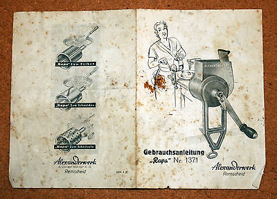 GERMANY - Vintage Booklet with ALEXANDERWERK Company Tools Products Early 1900s