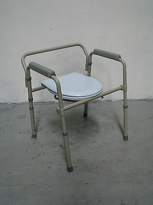 Over Toilet Frame Raiser Commode Chair Seat Grey