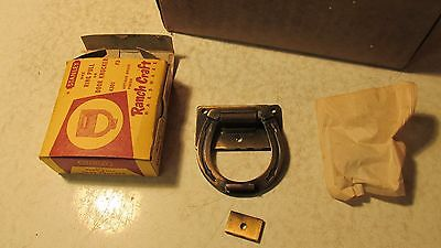 1 Antique Brass Finish Horseshoe Doorknocker Stanley Ranch  NOS