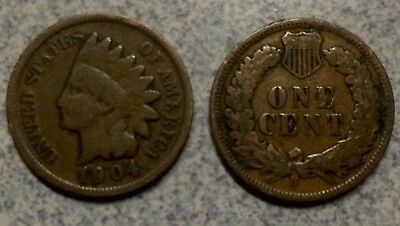 1904 Indian Head One Cent 1c United States Of America USA ( Random Pick ) Holder