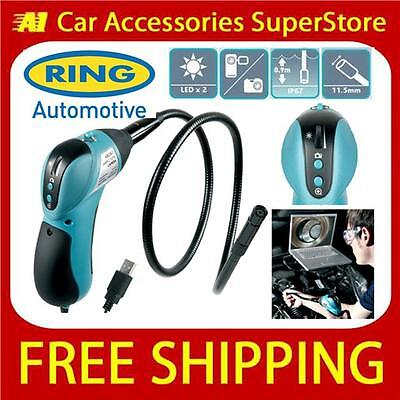 Ring RBS50 Borescope Inspection Tool With LED & Flexible Probe USB Camera