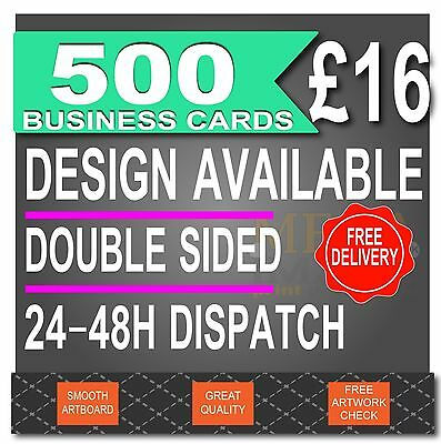 500 Business Cards, FULL COLOUR, 24-48H Dispatch, Design Available
