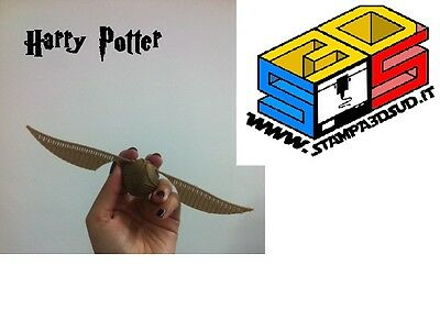 Boccino d'Oro Harry Potter golden snitch quidditch gadget stampa 3D HP