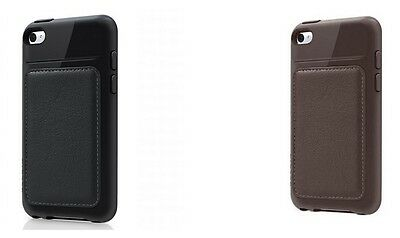 Belkin iPod Touch 4th Generation 4G Grip Edge Leather Case/Cover - Brown/Black