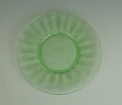 Jeannette Glass FLORAL-GREEN Bread & Butter Plate(s) Multi Avail  EX