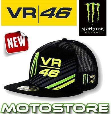 Vr46 Valentino Rossi Cap Official Hat Genuine Trucker Monster Energy Claw Mesh