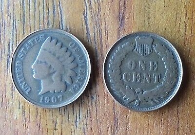 1907 Indian Head One Cent 1c United States Of America USA ( Random Pick ) Holder