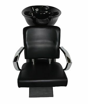 Black Ceramic Salon Shampoo Wash Basin Chair Colour Professional Hairdressing
