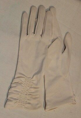 Vintage Ladies Max Mayer's Gloves Cream Coloured Size Small