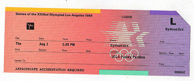 Orig.ticket   Olympic Games Los Angeles 1984 - GYMNASTIC FINAL / 02.08.1984