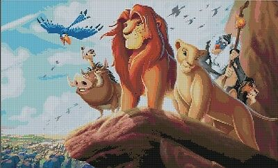 Counted Cross Stitch Pattern or Kit, Disney, Simba, The Lion King