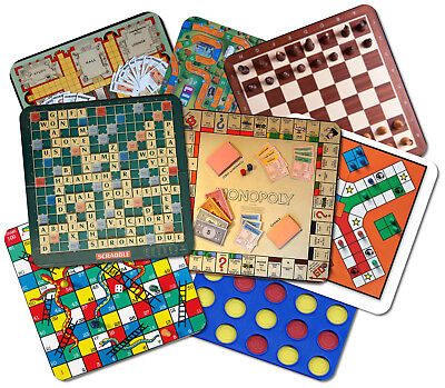 Novelty Classic Board Game Wooden Coaster Mat - 8 Designs