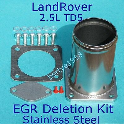 EGR Delete Kit Land Rover 2.5 TD5 Defender Discovery Stainless Steel with gasket