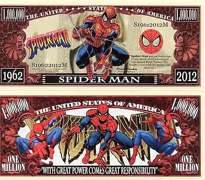 Spiderman Cartoon Series Million Dollar Novelty Money
