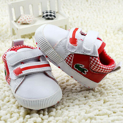 Baby boys Girls red Crib Shoes Sports casual shoes Size Newborn to 18 Months /M